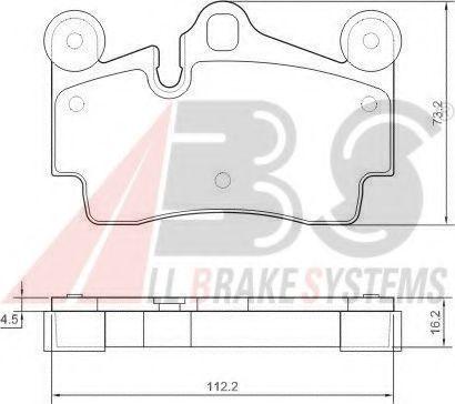 Гальмівні колодки дискові зад. VW Touareg 2.5 04-10 Porsche Cayenne 3.2 02- ABS 37365
