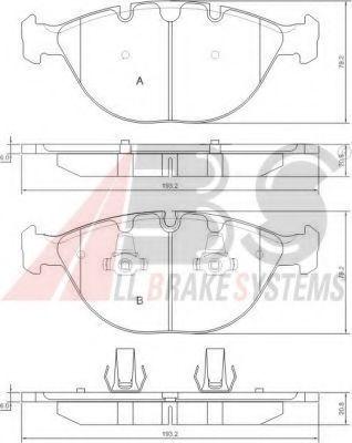 Гальмівні колодки дисковi Bmw X5 E53 01- 4,6 ABS 37369