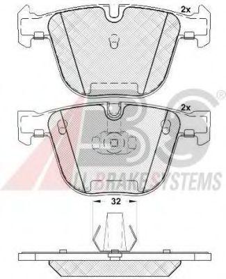 Колодка торм. BMW 5/6/7/X5/X6 SERIE задн. (пр-во ABS)                                                 арт. 37371