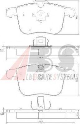 Тормозные колодки Гальмівні колодки дискові (1 к-т) LPR арт. 37389