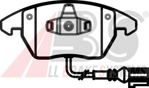 Колодка торм. AUDI/VW A3/GOLF/TOURAN передн. (пр-во ABS)                                             ABS 37414