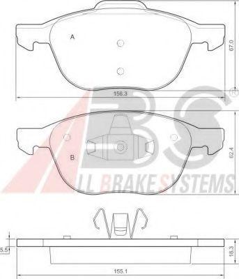 Колодка торм. FORD/MAZDA/VOLVO FOCUS/C-MAX/3/C30/S40 передн. (пр-во ABS)                              арт. 37422