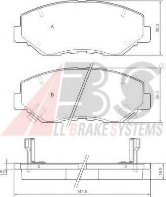 Колодки гальмiвнi дисковi пере Honda CR-V -06 ABS 37424