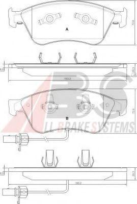 Колодка торм. AUDI A8 QUATTRO передн. (пр-во ABS)                                                    ABS 37427