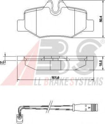 Гальмівні колодки дискові зад. DB Viano/Vito 2,2/3,2 CDI 03- ABS 37450