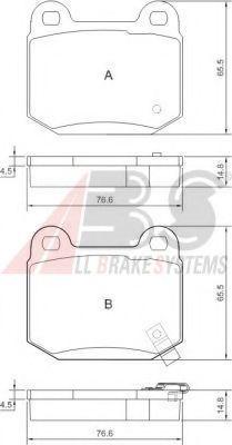 Гальмівні колодки зад. Nissan 350 Z (Z33) 05-/Infiniti G35 (V35)  ABS 37452