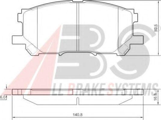 Гальмівні колодки дискові перед. Lexus RX 300 05.03- ABS 37458