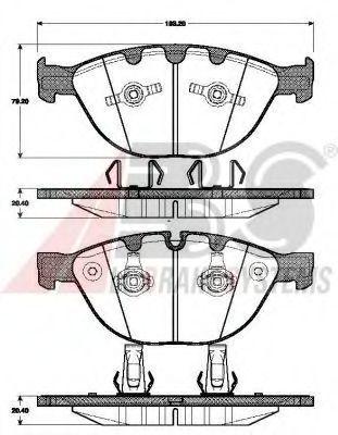 Гальмівні колодки дискові перед.BMW 535d/745-760 02- ABS 37463
