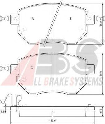 Гальмівні колодки дискові перед. Nissan Murano 02-/Pathfinder 2.5 dCi 05-/Renault Koleos 2.0 dCi 08- ABS 37504