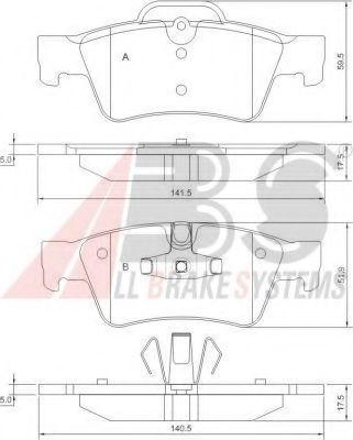Гальмівні колодки дискові зад. DB X164 06-, GL-Klasse 06- ABS 37509