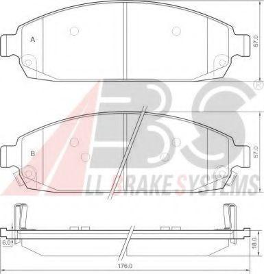 Комплект тормозных колодок, дисковый тормоз  арт. 37517