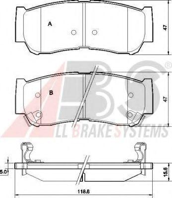 Гальмівні колодки дискові зад. Hyundai Santa Fe II 06- ABS 37523