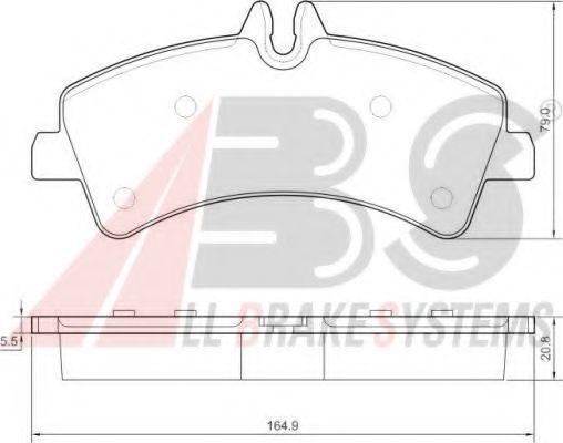 Гальмівні колодки дискові зад. DB Sprinter 5T 06- (Bosch) ABS 37554