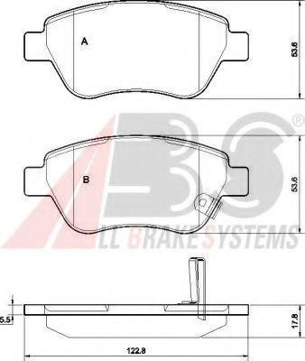 Колодка торм. диск. OPEL CORSA передн. (пр-во ABS)                                                   ABS арт. 37563