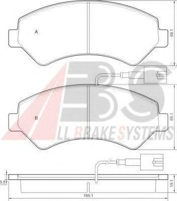 Гальмівні колодки дискові пер. Citroen Jumper/Fiat Ducato/Peugeot Boxer 06- ABS 37576