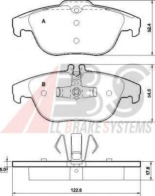Гальмівні колодки дискові задні DB C-Class (W204) C 180 ,C 200 CDI 01.08- ABS 37585