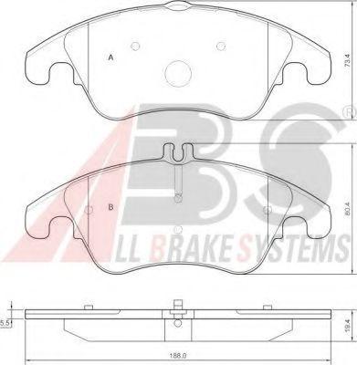 Гальмівні колодки дискові перед. DB klasa W 204 C 280,320,350 07- ABS 37586