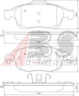 Гальмівні колодки дискові перед. Citroen C4 Picasso 1.8i 16V/1.6HDI 07- ABS 37598