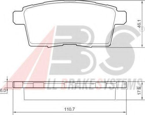 Колодки гальмiвнi зад. Mazda CX-7 2.3IT 06-, CX-9 06-  ABS 37644