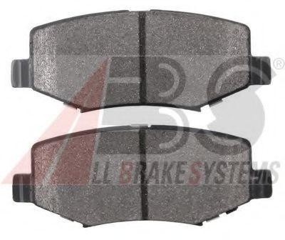 Гальмівні колодки дискові зад. Dodge Nitro 07-08/08- ABS 37698