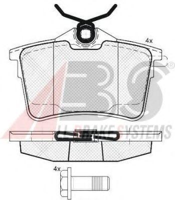 Гальмівні колодки дискові зад. Citroen Berlingo/Peugeot Partner 1.6, 1.6 HDi 75, 90, 110 04/08- ABS 37700
