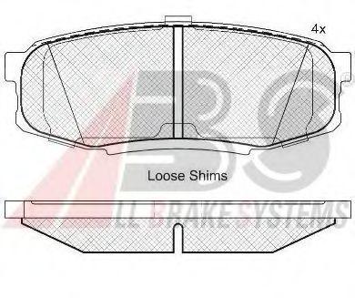 Гальмівні колодки дискові зад. Toyota Land Cruiser 4.5 D-4D/4.7 VVTi 01 07- ABS 37702