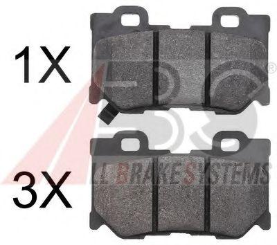 Гальмівні колодки зад. Nissan 370Z 09-/Infiniti FX 37/50 08- /GX 37 07-  ABS 37769