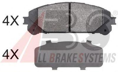 Гальмівні колодки дискові перед. Toyota Rav4 12-// Lexus RX 08- ABS 37844
