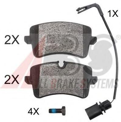 Гальмівні колодки дискові зад. Audi A6/A6/S6 IV (4G2,C7) 10- ABS 37859