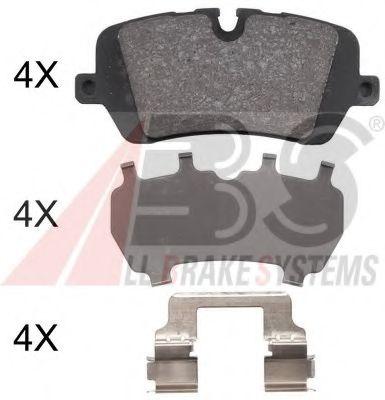 Гальмівні колодки диск.задні Range Rover IV 3.0D-5.0 12- ABS 37981