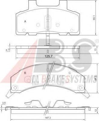 Комплект тормозных колодок, дисковый тормоз  арт. 38215