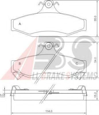 Гальмівні колодки дискові зад. Daewoo/Ssangyong Korando/Musso 94-  ABS 38295