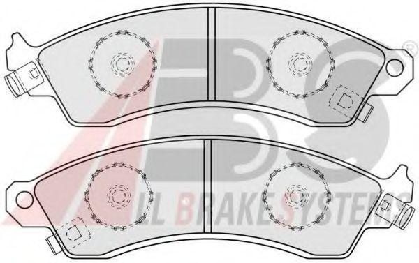 Комплект тормозных колодок, дисковый тормоз  арт. 38412