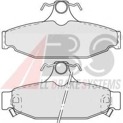 Комплект тормозных колодок, дисковый тормоз  арт. 38413