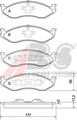 Комплект тормозных колодок, дисковый тормоз  арт. 38477