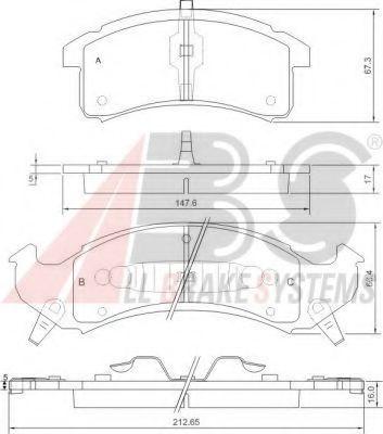 Комплект тормозных колодок, дисковый тормоз  арт. 38505