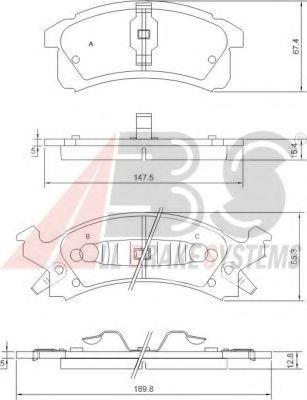 Комплект тормозных колодок, дисковый тормоз  арт. 38506
