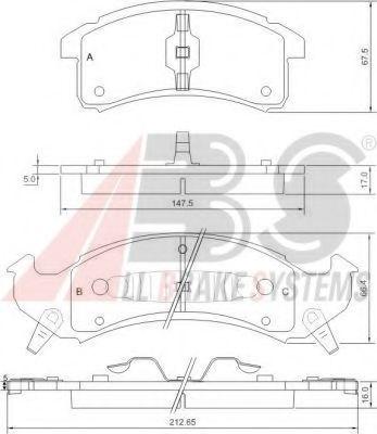 Комплект тормозных колодок, дисковый тормоз  арт. 38623