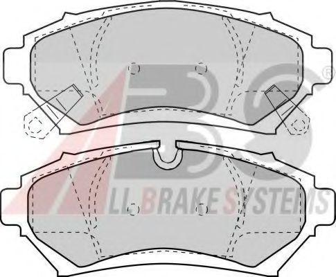 Комплект тормозных колодок, дисковый тормоз  арт. 38753