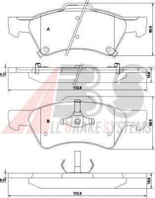 Комплект тормозных колодок, дисковый тормоз  арт. 38857