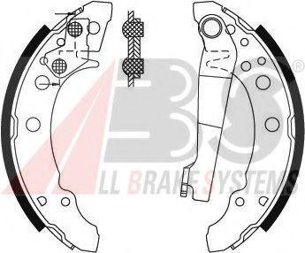 Гальмівні колодки барабанні зад. 180х31 VW Golf/Polo 79- ABS 8772
