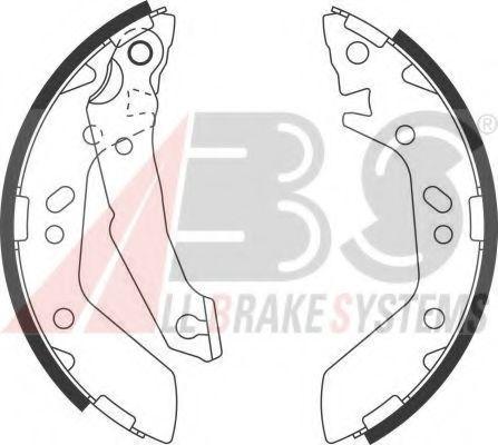Гальмівні колодки барабанні зад. Hyundai Accent 1.3-1.6 94-05 ABS 9148