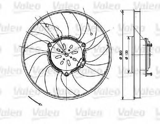 Вентилятор охлаждения радиатора VALEO 696082