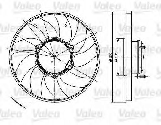 Вентилятор охлаждения радиатора VALEO 696083