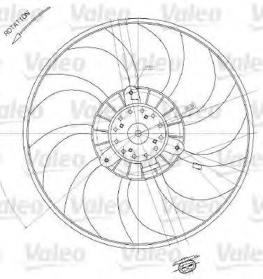 Вентилятор охлаждения радиатора с диффузором VALEO 698412