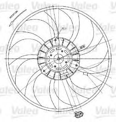 Вентилятор радіатора VALEO 698424