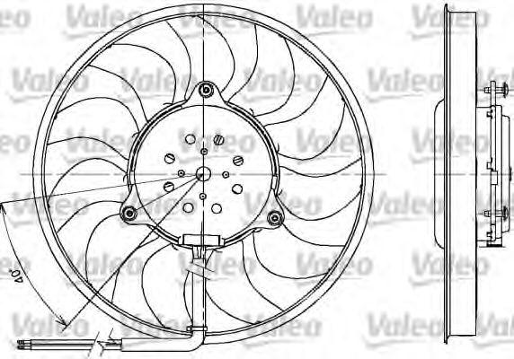 Вентилятор радіатора VALEO 698612