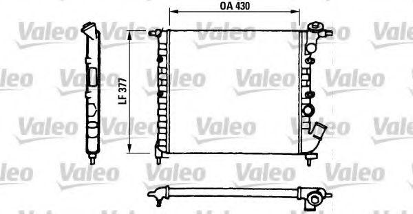 Радиатор охлаждения двигателя VALEO 730055