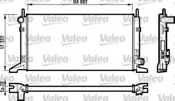 Радиатор охлаждения FORD (пр-во VALEO)                                                               VALEO 730117