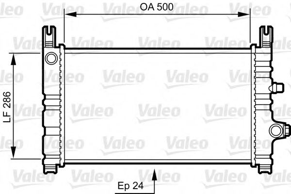 Радиатор охлаждения VOLVO; FORD FIESTA (пр-во VALEO)                                                 VALEO 731299
